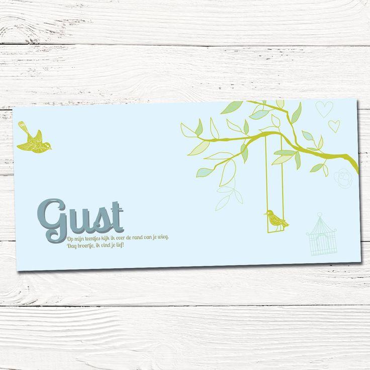 Geboortekaartje boom en vogels   grafisch design op maat   grafisch   ontwerp   babykaartjes   vogel   silhouet
