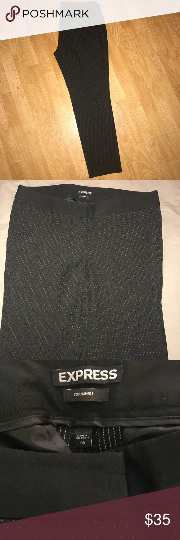 Express Columnist ankle pants Express Columnist ankle pants in black with white pinstripping. Size 8R mid rise. Express Pants Ankle & Cropped