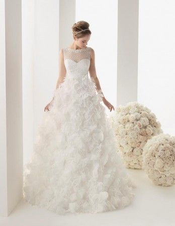 Two by Rosa Clará 2014Clará Это, Clará 2014, Dreams Wedding'S 3, Formal Dresses, Feathers Gowns, Fashion Wedding, Pink, The Dresses