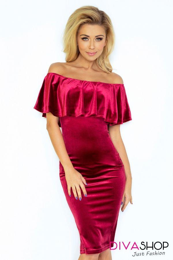 Rochie de seara eleganta rosu