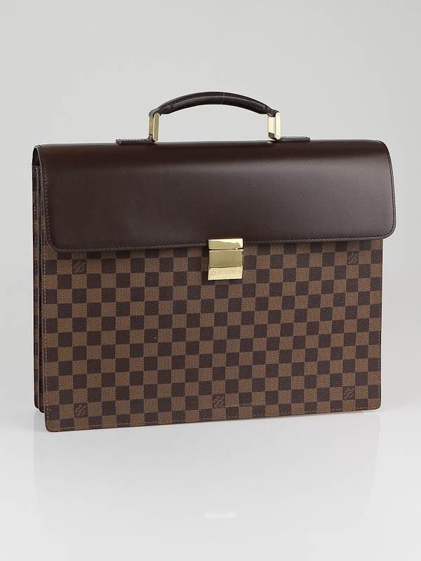Louis Vuitton Damier Canvas Altona GM Briefcase Bag.