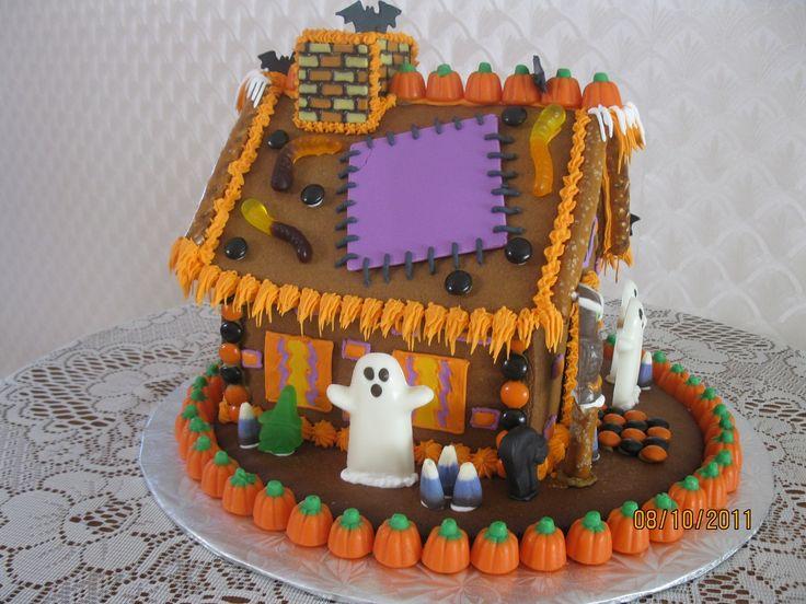 - Halloween gingerbread house