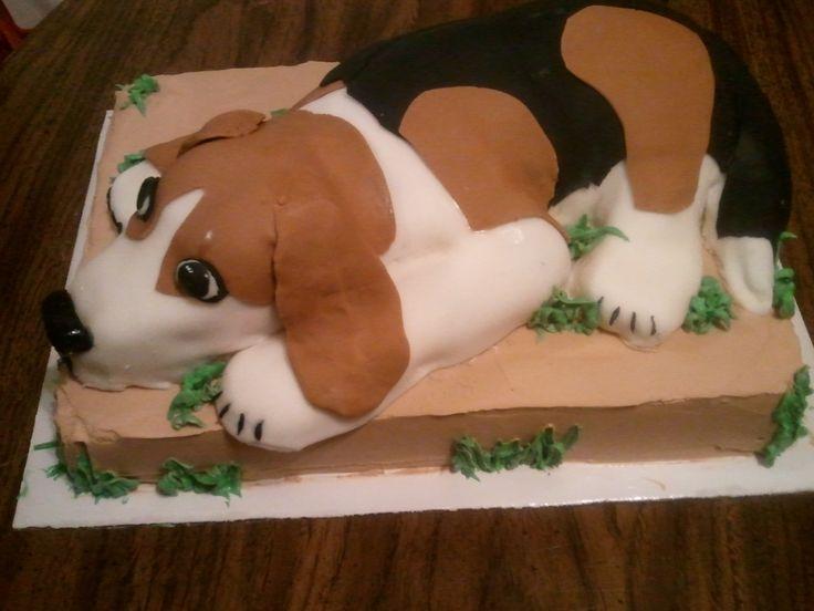 Beagle Dog Cake My Cakes Pinterest Cakes Dog Cakes