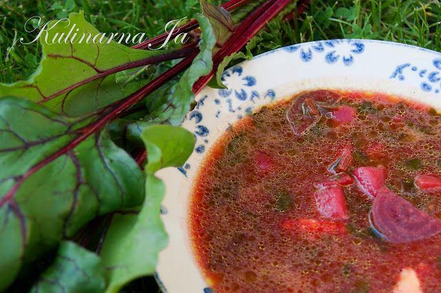 Kulinarna Ja: Zupa z botwiny