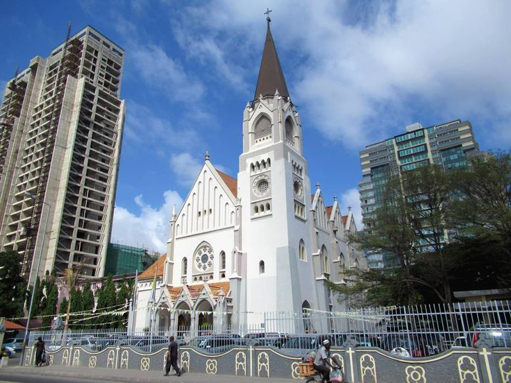 Neo-Gothic St Joseph's Catholic Cathedral (1902) in Dar es Salaam, Tanzania, has some fine stained glass windows.