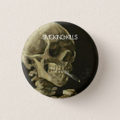 Lung Cancer Awareness Smoking Kills Pinback Button - accessories accessory gift idea stylish unique custom