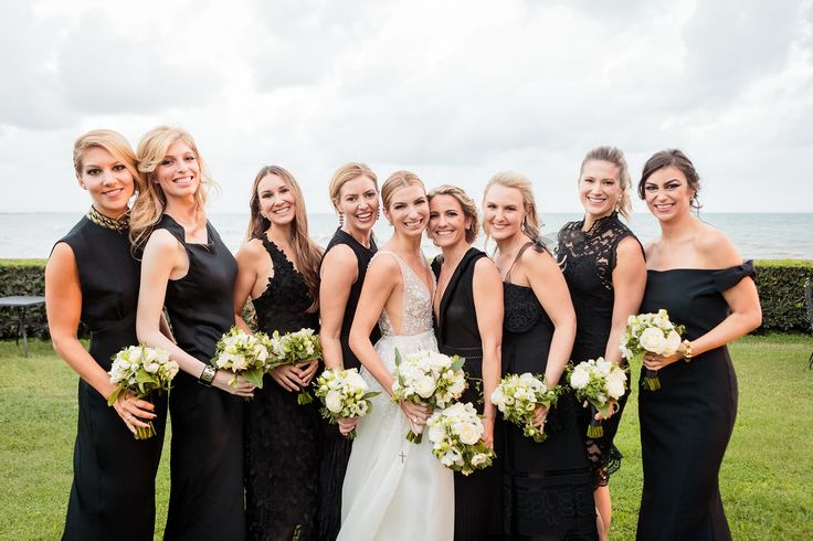 Surrounded by my beautiful bridesmaids: my sister and my dearest friends.