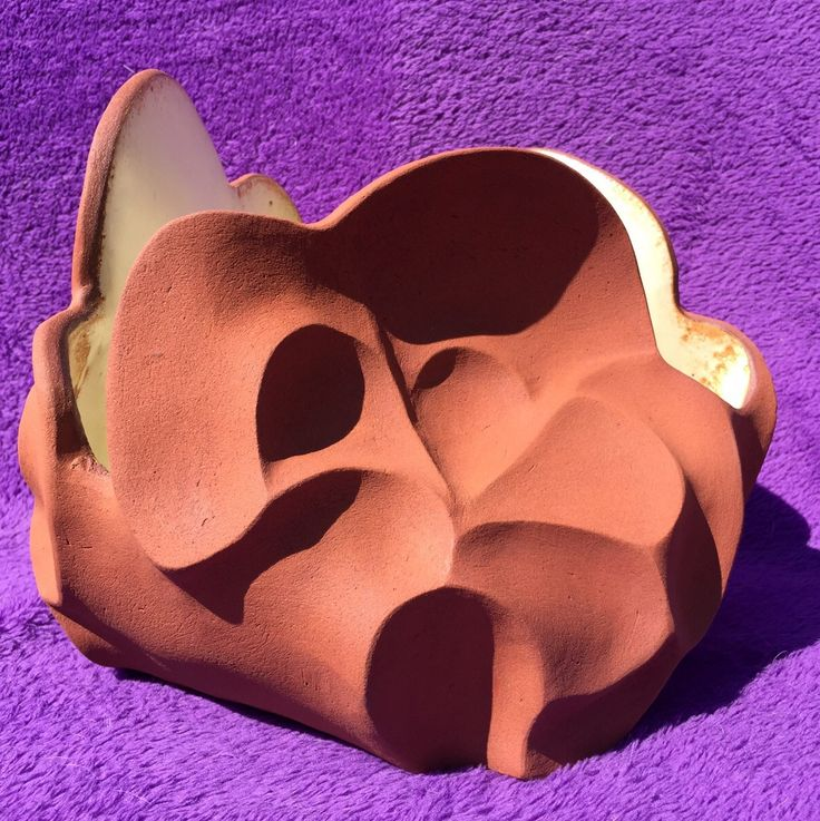 by Lalage Hunter. Terracotta, Iron Oxide, Glazed Interior