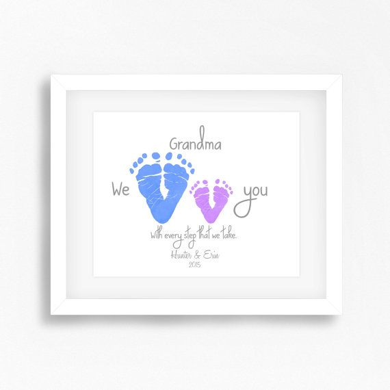 Mothers Day Gift from Grandkids by PerfectLittlePrints on Etsy