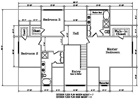 Second level floor plan for the Kodiak Steel Homes Meadowbrook: 3,860 Square Feet. #steel #floorplans #architecture