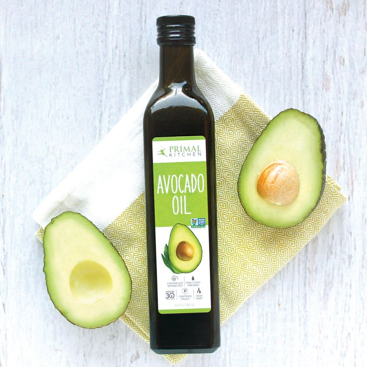 Primal Kitchen Avocado Oil—This refined avocado oil is a high-heat stable cooking oil, great for baking, broiling, sautéing and stir-frying. Primal Kitchen Avocado Oil is 100% pure, and can even be used for moisturizing hair and skin.    ✔︎ Rich in Monounsaturated, Heart-Healthy Fats  ✔︎ First Cold Pressed & Centrifuge Extracted  ✔︎ High-Heat Cooking Oil