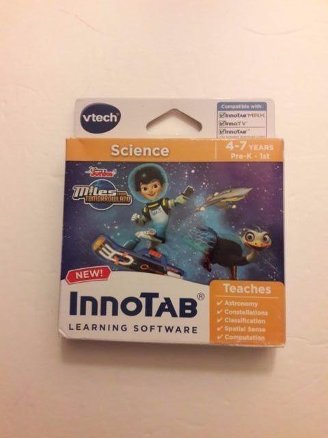 VTech Disney Junior SCIENCE InnoTab Learning Software Miles Tomorrowland 4-7 Yrs #Vtech