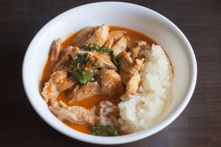 Chicken Panang Curry - could just use some more veggies. i served with ...