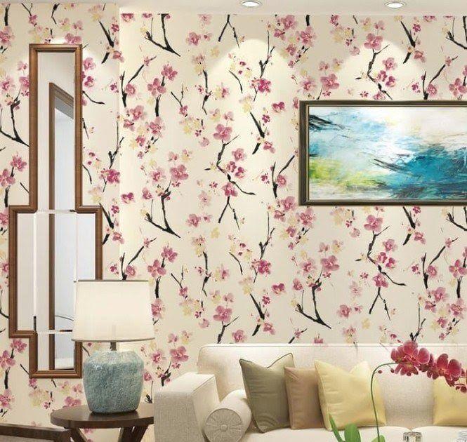 Terbaru 30 Foto Lukisan Bunga Sakura Di Dinding Contoh Wallpaper Dinding Rumah Motif Bunga Terbaru Januari Download Ber Di 2020 Lukisan Bunga Ruangan Bunga Sakura