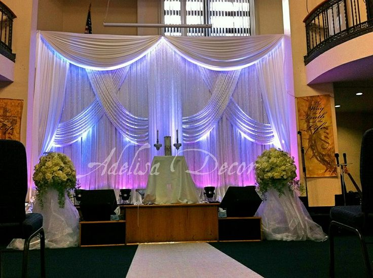 Elegant Drapery At Indoor Ceremony: 17 Best Images About Wedding Ceremony Drapes