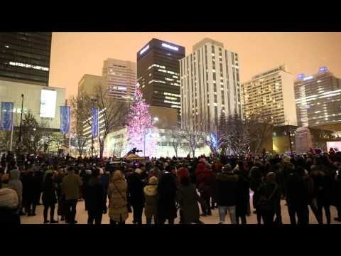 #YEG #Christmas on the Square Holiday Light Up 2013