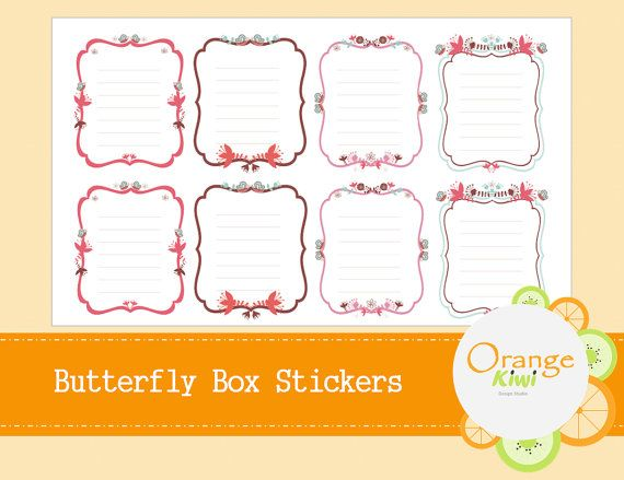 Butterfly Full Box Planner Stickers for Erin by OrangeKiwiDesign