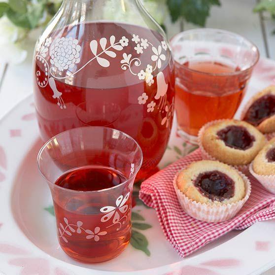 Rabarbra- og jordbærsaft - Oppskrifter