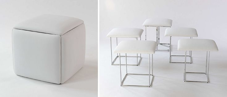 Cubista has got to be my favorite multifunctional seating – a great ottoman that turns into seating for not 2 or 3, but 5! 9+ Awesome Space-Saving Furniture Designs - Tico ♥ Tina