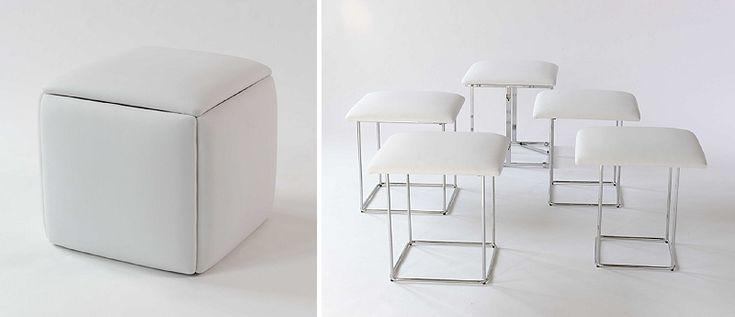 Resource Furniture ottoman stool - minimalist living space, space-saving furniture, small space design,  minimalism, multifunctional furniture