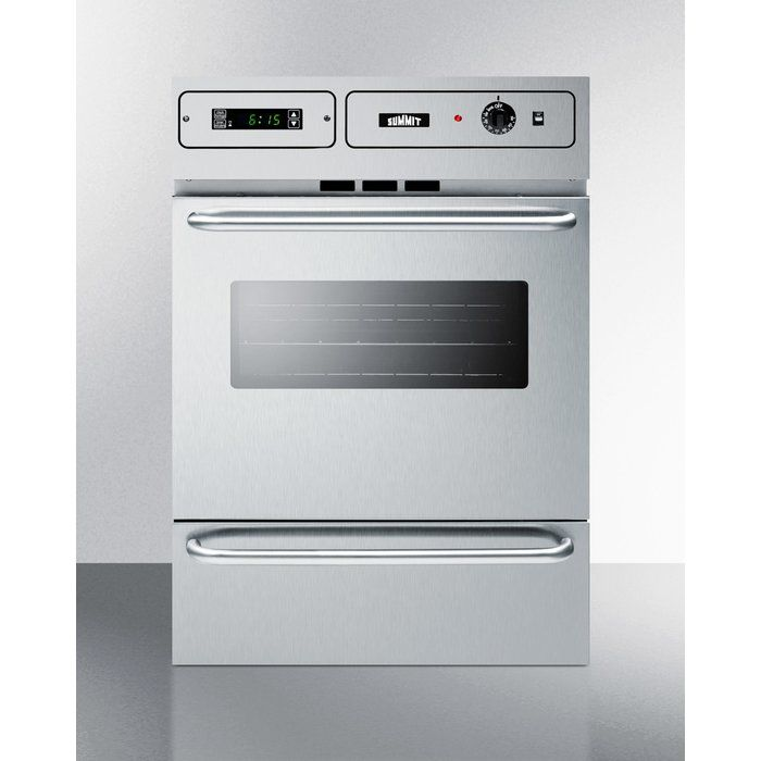 "Summit 24"" Gas Single Wall Oven"