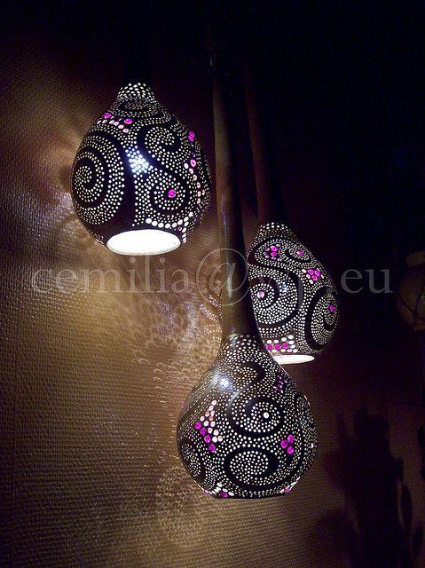 Gourd lamps - Calabash Bazaar