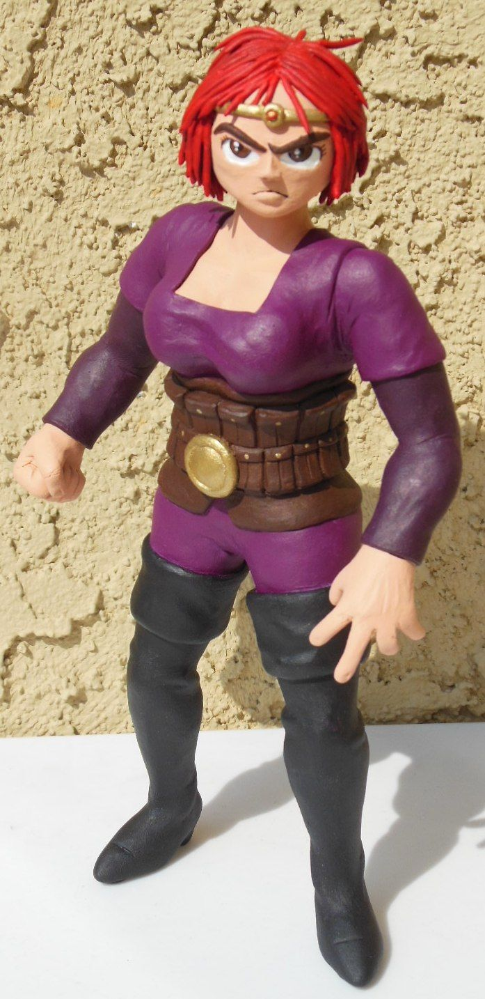 Violetta, former Smoke Knight and current aide de camp of Agatha Heterodyne. Sculpey, Apoxie Sculpt, and paint