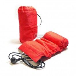 Paire de couverture chauffante  auto-régulée rouge