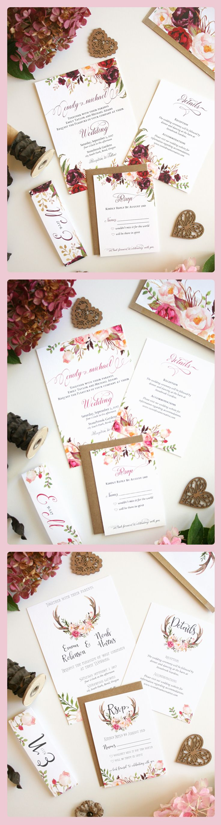 The prettiest rustic Wedding Invitations ever 55