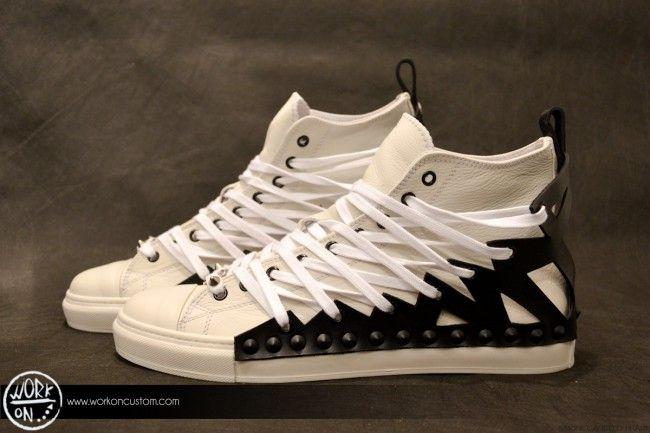 Work_On leather shoes - #leather #shoes #custom #studs #sneakers #workon #fashion #handmade #madeinitaly - www.workoncustom.com - mod. Bad Boy