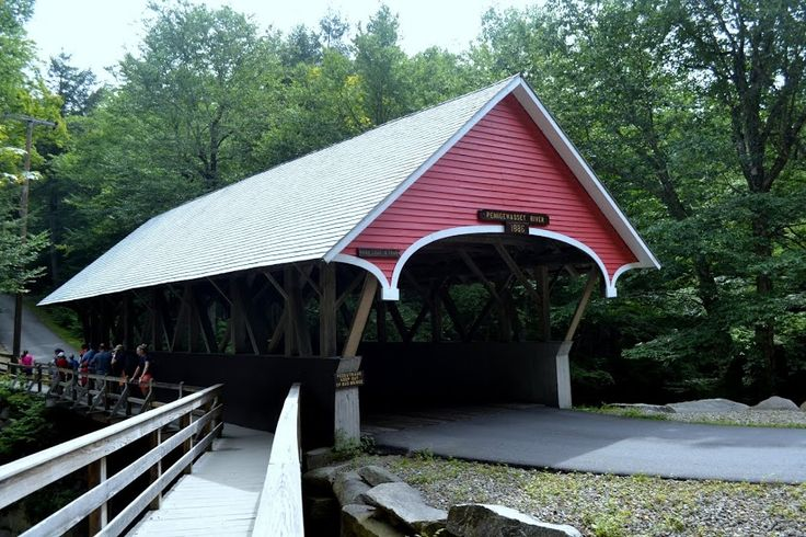Крытый мост Флюм, Нью-Гэмпшир (Flume Covered Bridge, NH)