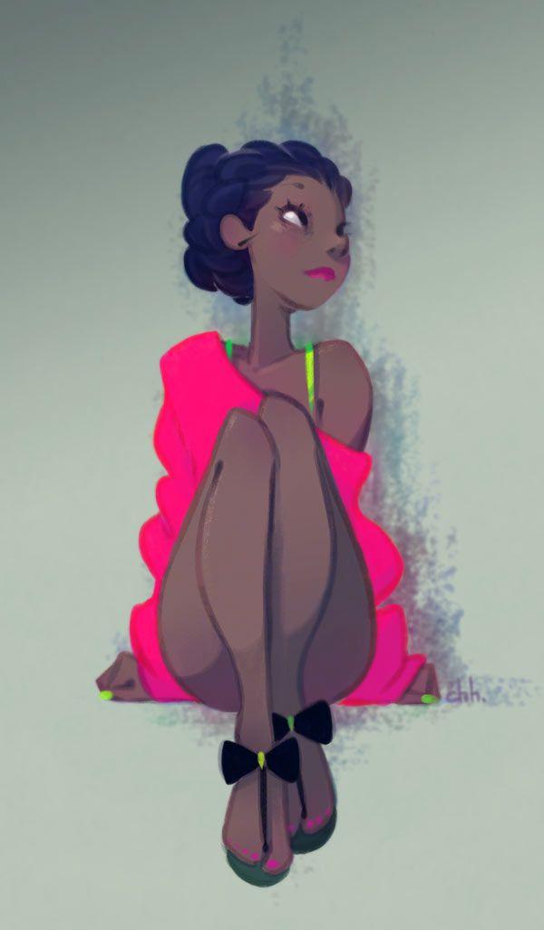 Girl illustration. Color / Illustrazione ragazza, colore - Art by Ciia