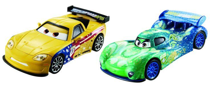 Disney Pixar Cars Movie Moments 2 pack Jeff Gorvette Carla Veloso
