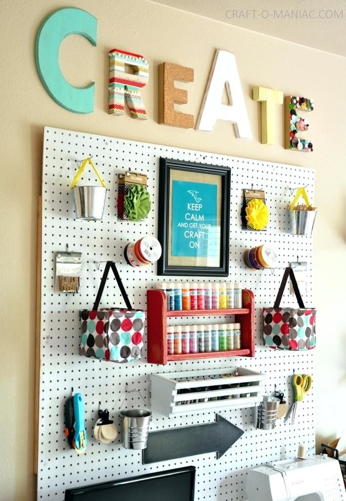 Pegboard Craft Arts And Crafts Storage Furniture For Art Supplies