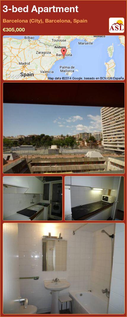 3-bed Apartment in Barcelona (City), Barcelona, Spain ►€305,000 #PropertyForSaleInSpain