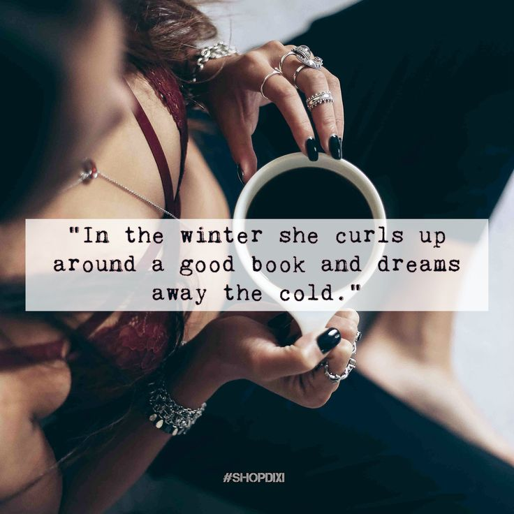 So many things to love about winter... coffee, cosy nights, good books and soft candle light.