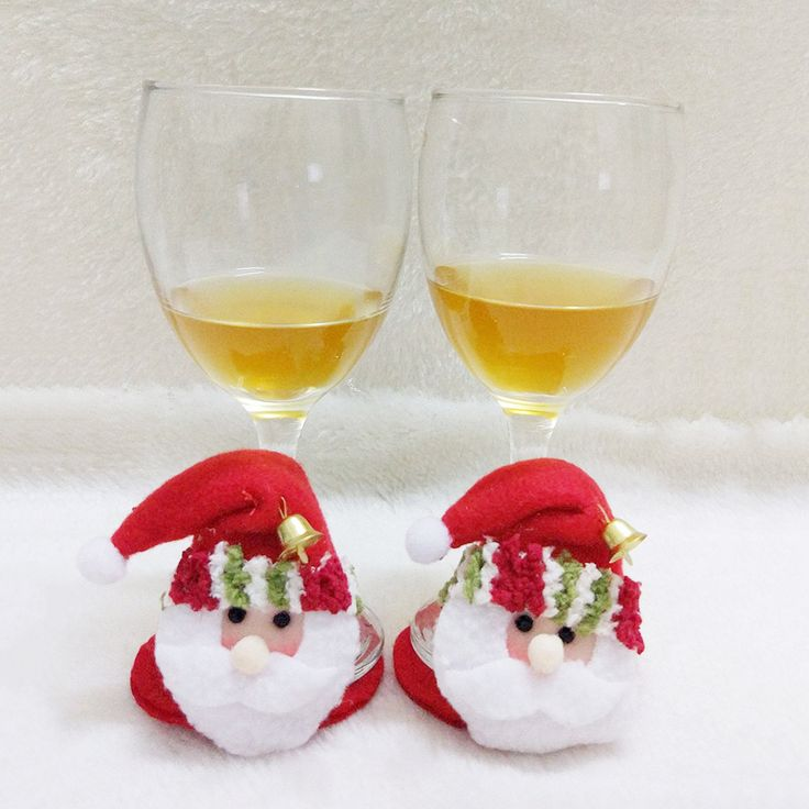 Handmade10Pcs/Lot Christmas Decorations For Home 2016 Christmas Party Household Round Coasters Cute Coasters Santa Claus Cup Mat #clothing,#shoes,#jewelry,#women,#men,#hats,#watches,#belts,#fashion,#style