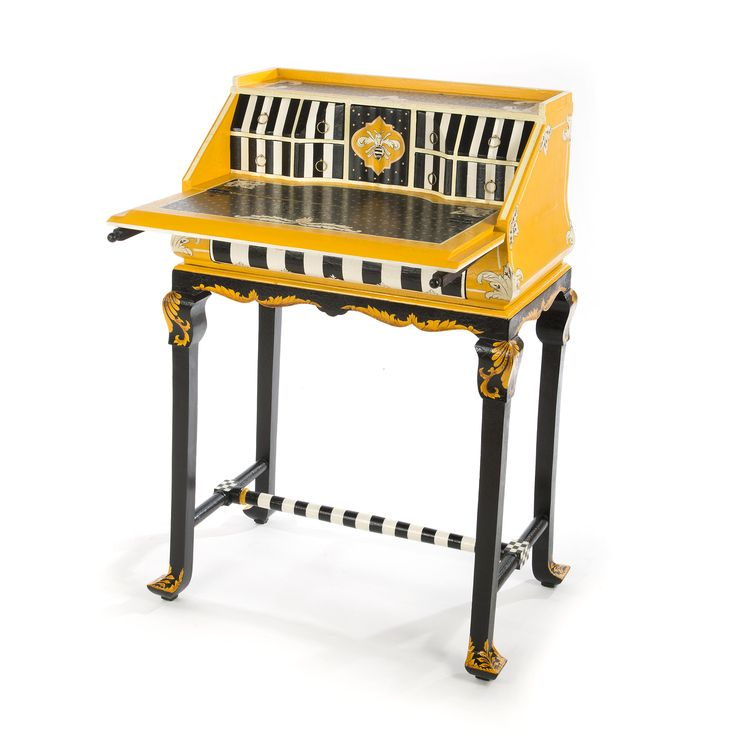 MacKenzie-Childs | Worker Bee Writing Desk; the opened sight