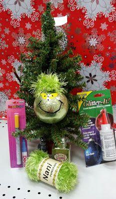 Grinch Christmas ball ornament