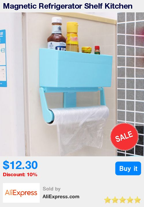 Magnetic Refrigerator Shelf Kitchen Storage Rack Paper Towel Bottle Rack Cling Film Holder for Refrigerator Bathroom Accessories * Pub Date: 23:16 Apr 13 2017
