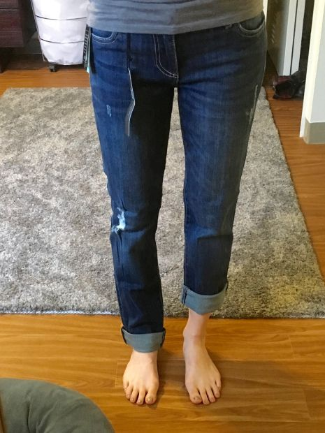 LoLo's First Stitch Fix Review February 2016: Boyfriend Blue Jeans #StitchFix #StitchFixReview #FebruaryStitchFix