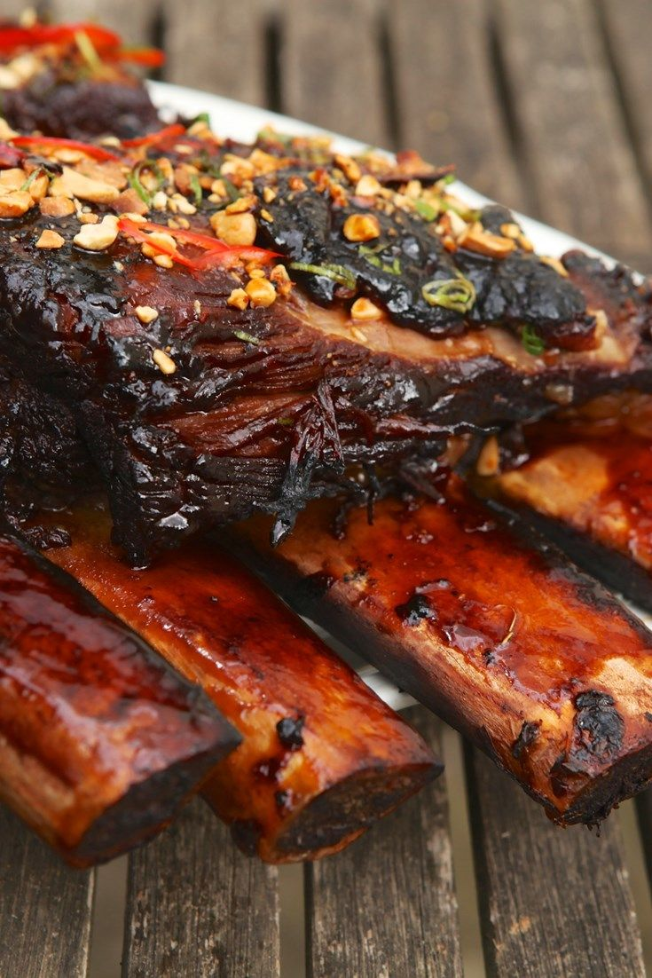 David Everitt-Matthias serves up his barbecued beef short ribs recipe, infused with Asian flavours of yellow bean, soy and chilli.