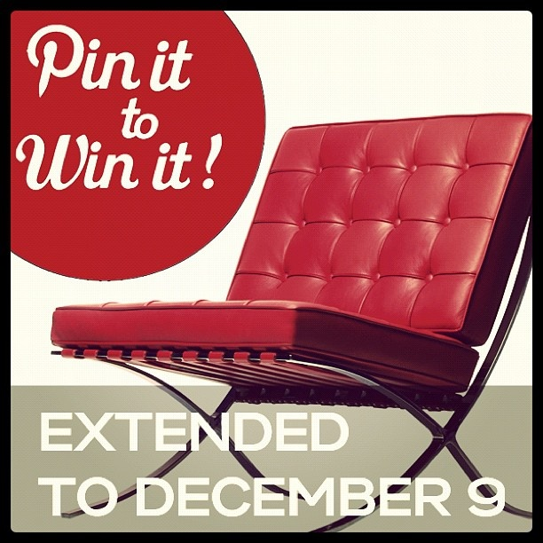 Modern Furniture Collection is giving away a classic Exhibition Chair! All you have to do is pin.