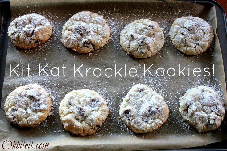~Kit Kat Krackle Kookies!: Cookies Bar, Cookies Brownies, Cookies Monsters, Krackl Cookies, Crunches, Candy Bar, Cookies Recipe, Kitkat Cookies, Cookies Jars