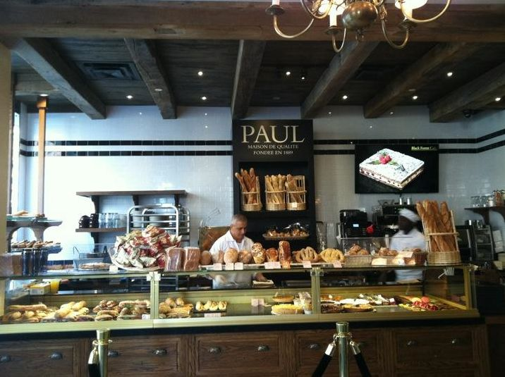 Pastry Counter inside Paul Bakery on Connecticut Avenue