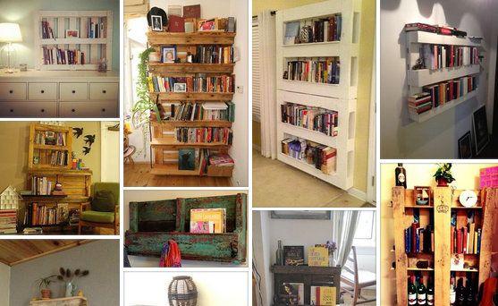 Βιβλιοθήκες - ράφια από παλέτες