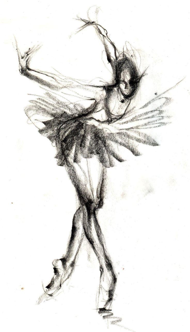 Uncategorized Ballerina Drawings best 25 ballerina sketch ideas on pinterest ballet drawings items similar to black swan balletart art print dance painting artwork pencil drawing etsy