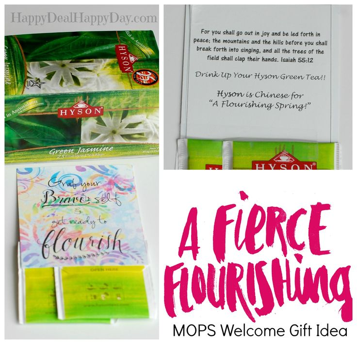 Fierce Flourishing Welcome Gift Idea (For MOPS Moms) - this has links to printable files so that you can make this for your MOPS group in celebration of A Fierce Flourishing!!        happydealhappyday.com