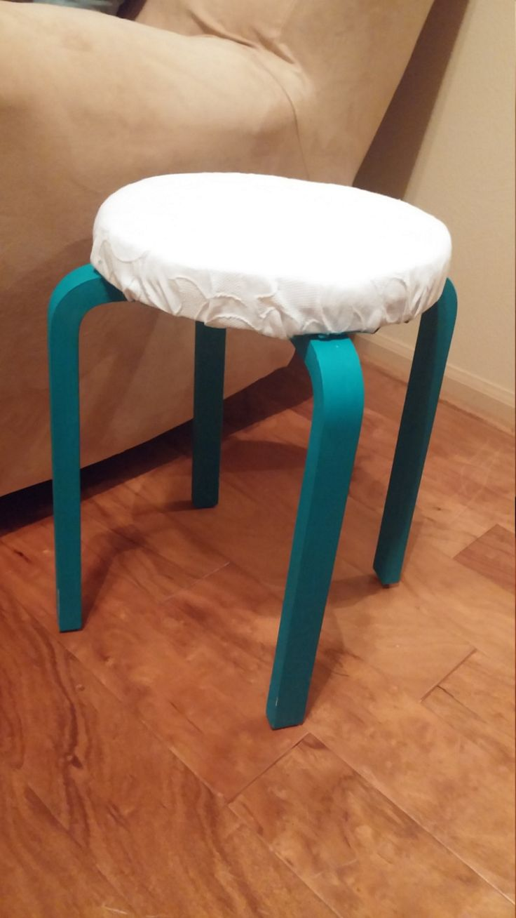 Hacked IKEA Stool Newly Painted and Upholstered by AimeesRR on Etsy