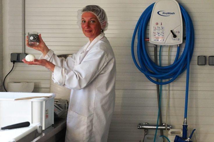 Angélique Gauffre a mis au point la recette de la mozzarella normande au lait de bufflonne à la ferme « La fée dans l'asinerie » de Gaillefontaine. Une première en Normandie.